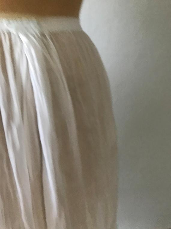 Antique Edwardian Sheer Cotton Embroidered Skirt … - image 4