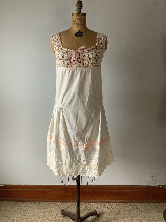 Antique Edwardian Women's Crochet and Embroidered