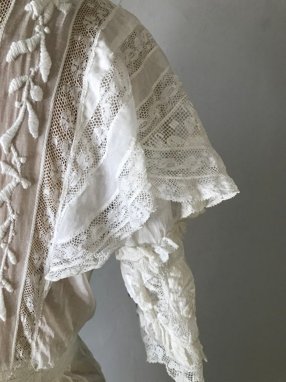 Antique 1900s Edwardian Women's White Embroidered… - image 9