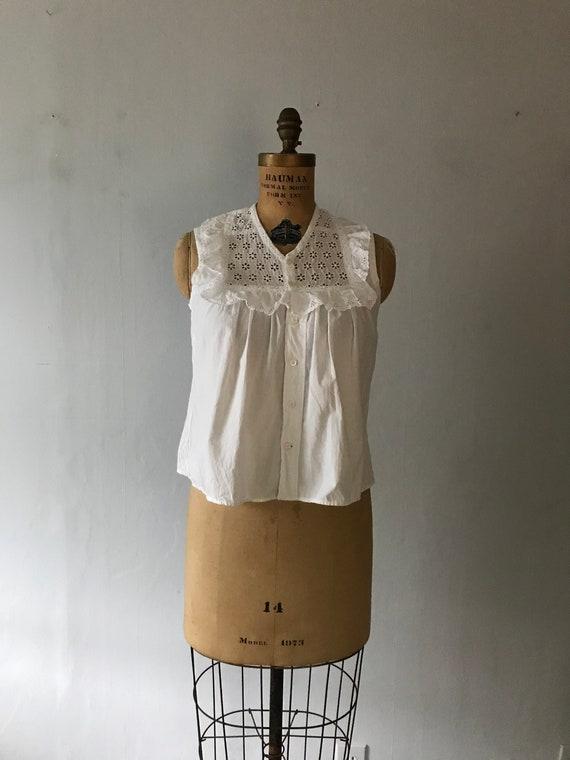 Antique Women's Edwardian 1900 Blouse - Sleeveless