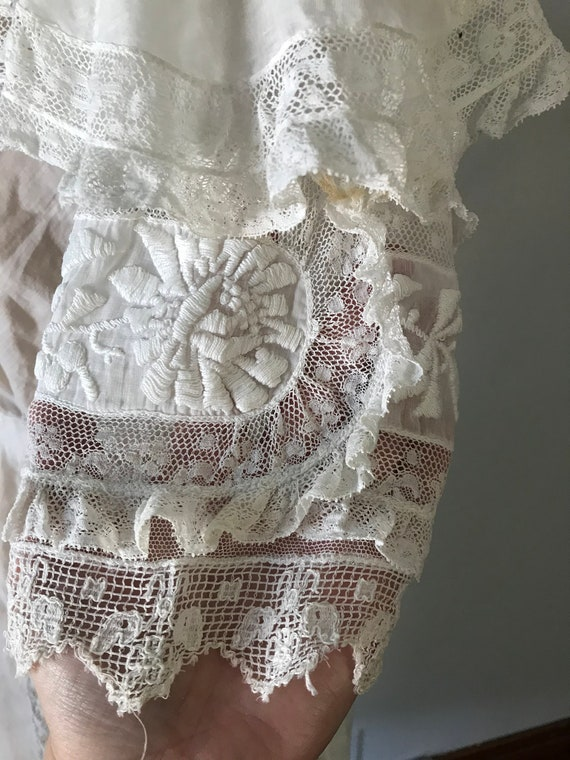 Antique 1900s Edwardian Women's White Embroidered… - image 7