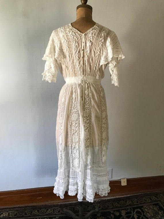Antique 1900s Edwardian Women's White Embroidered… - image 8