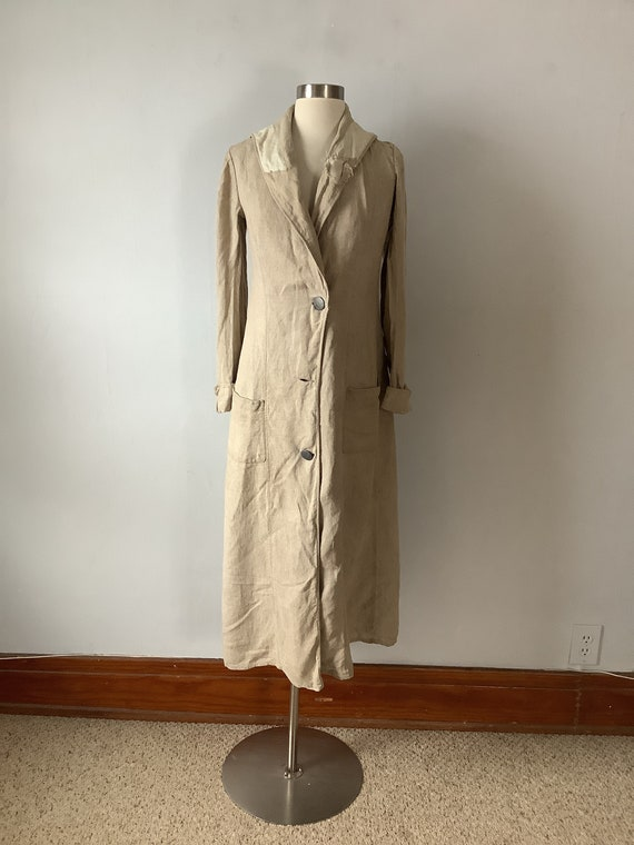 Antique Edwardian Women's Linen Duster
