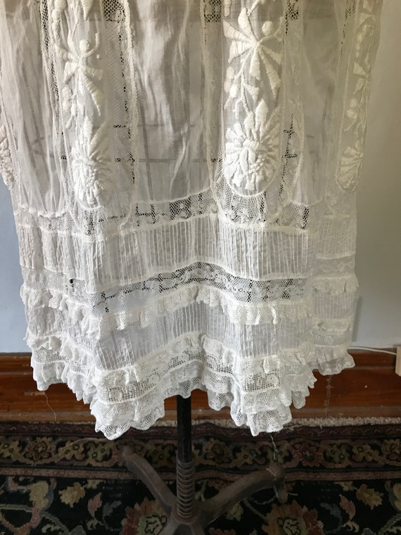 Antique 1900s Edwardian Women's White Embroidered… - image 5