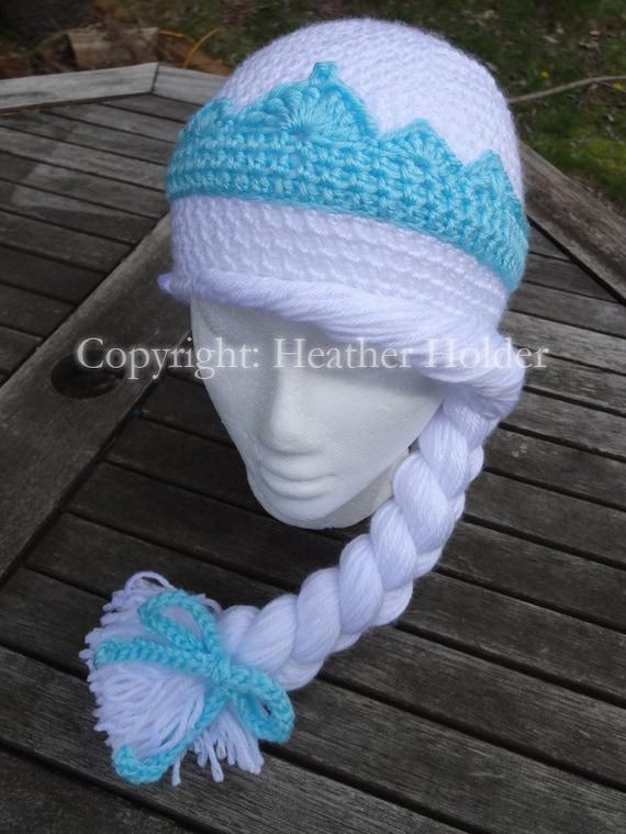 Elsa of Arendelle Frozen Crocheted Hat Pattern Instant  cd47718cae8