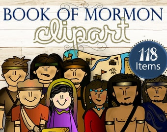 Clipart for Entire Book of Mormon Stories - INSTANT DOWNLOAD