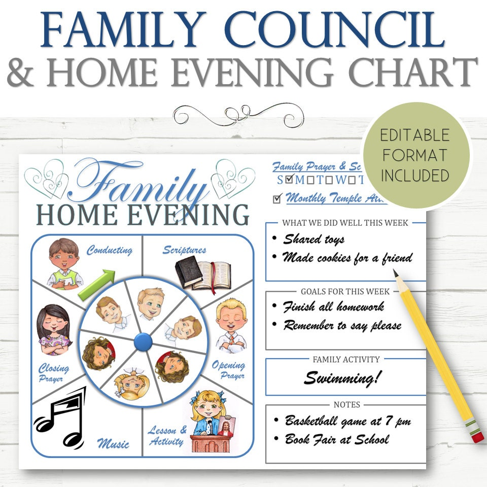 Famous Family Home Evening Chart Ideas Images - Home Decorating ...