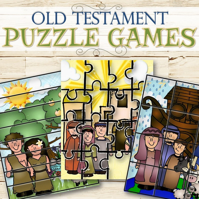 Old Testament Puzzle Games - INSTANT DOWNLOAD