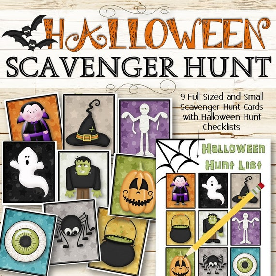 Scavenger Hunt - Halloween Party Game
