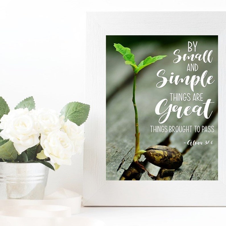 By Small And Simple Things Printable Instant Download Etsy