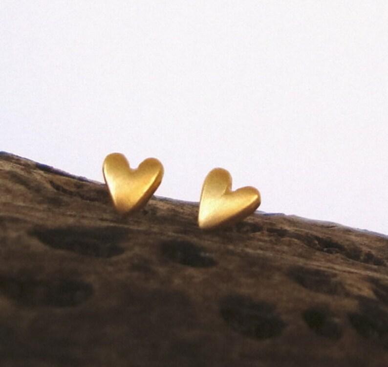 14k solid dainty Gold Heart Earrings Heart Studs in 14k solid Gold Heart Jewelry Bridal Jewelry love minimal earrings  spring love