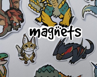 Monster Hunter - Cute Decorative Monster Magnets (average 8) - choose from over 100 designs