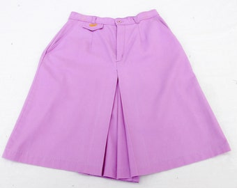 f9ab9e6f Vintage 1970' 70's Skirt / Skort / Shorts, Purple / Lilac / Lavender, Golf,  Size Small S, Medium M, Embroidered Duck, High Rise