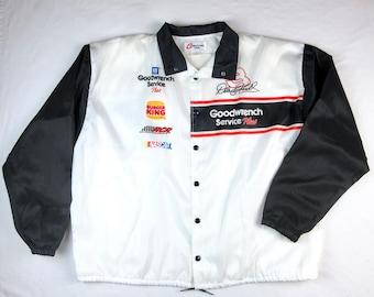 Vintage NASCAR Dale Earnhardt Windbreaker Jacket Goodwrench Service Plus Competitors View USA Gearhead Racing Fan Gift Auto Car Mechanic