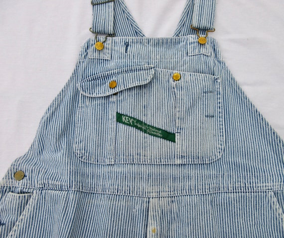 Vintage Overalls, Engineer Blue and White Stripe,