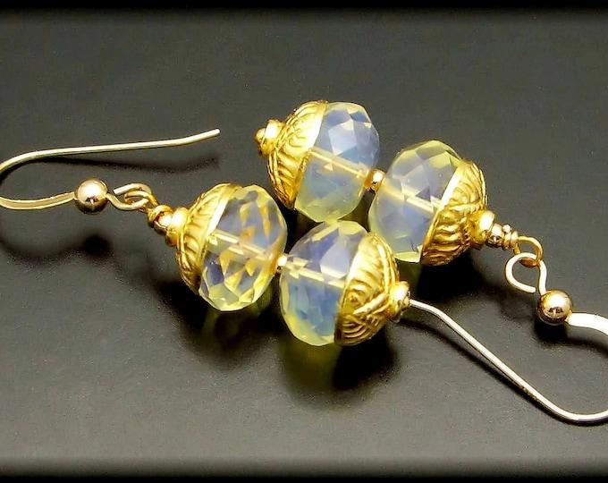 SUNRISE ~ Yellow Quartz 14kt Gold Fill Earrings