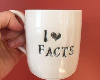I love facts mug