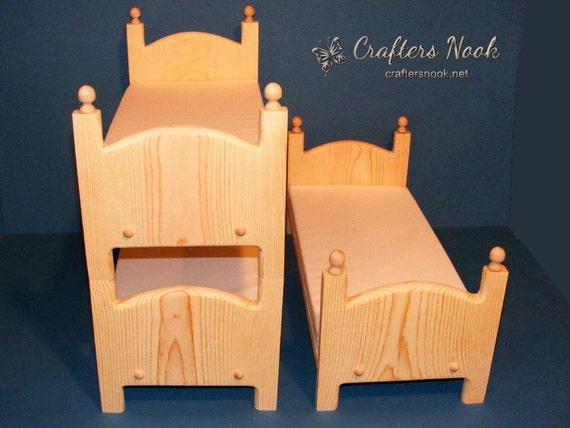 Puppenbett Etagenbett Holz : Puppenbett weiß aus lackiertem holz mit rosa bettwäsche cm x