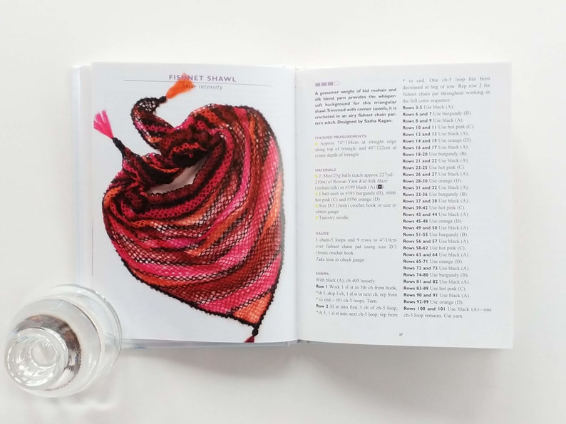 Intermediate Advanced 88 Pg Excellent Used Condition 25 Crochet Scarf Patterns Crocheted Scarves On The Go Pattern Book by Vogue Knitting