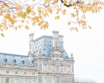 L'automne   Paris Art Print   Louvre Art Print   Tuileries   Parisian Art   Parisian Buildings   Paris Print   Paris Gift
