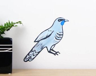 Kokako small wall decal u2013 fabric wall stickers | New Zealand birds | Kiwiana wall decal & Items similar to Tui bird wall decal u2013 fabric wall stickers ...