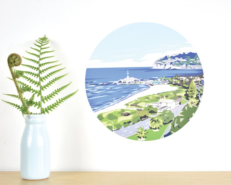 Sumner beach, Christchurch, Canterbury, New Zealand wall decal by Ira  Mitchell-Kirk – small | Art by Ira | New Zealand wall art