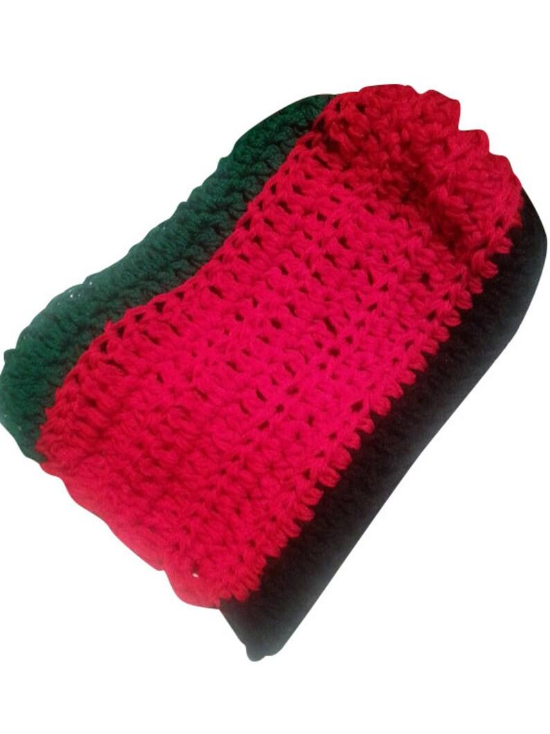 crochet beanie Unisex Rasta Crochet Hat Slouchy rasta hat red black green hat slouchy hat rasta colors