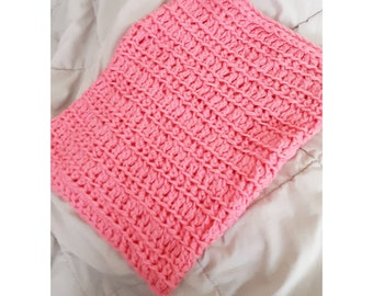 Pink Crochet Cowl, chunky scarf, crochet scarf, pink, warm scarf, feminine gift for her, infinity scarf, neck cozy