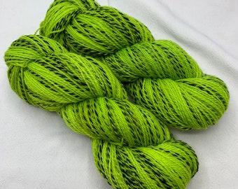 highland wool fingering - neon green