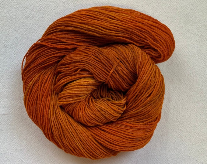 SALE - Purpose - OOAK rust orange