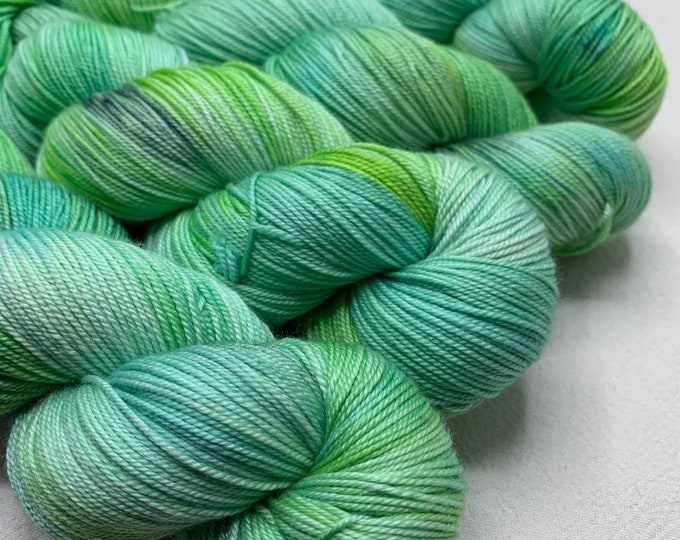 Silky sock - one of a kind light green turquoise