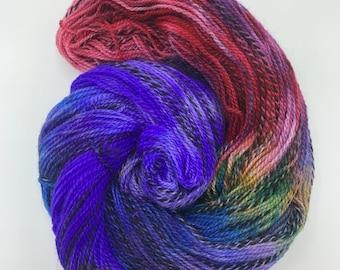 highland wool fingering - hidden rainbow