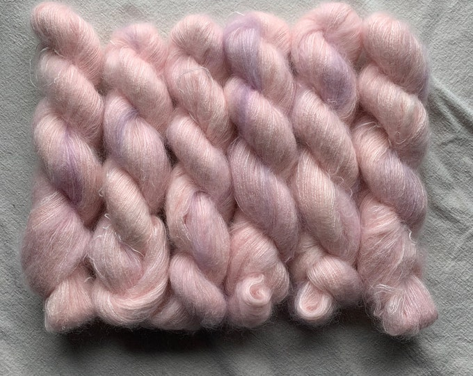 WOLKE - OOAK very pale pink with hints of purple
