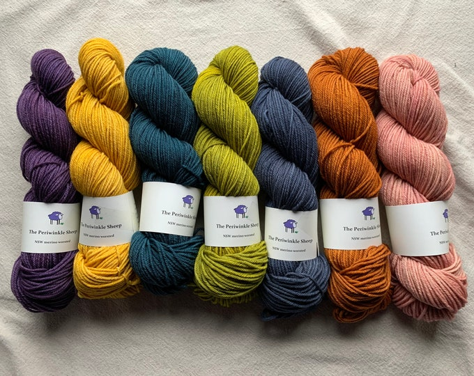 NSW merino worsted - various colors