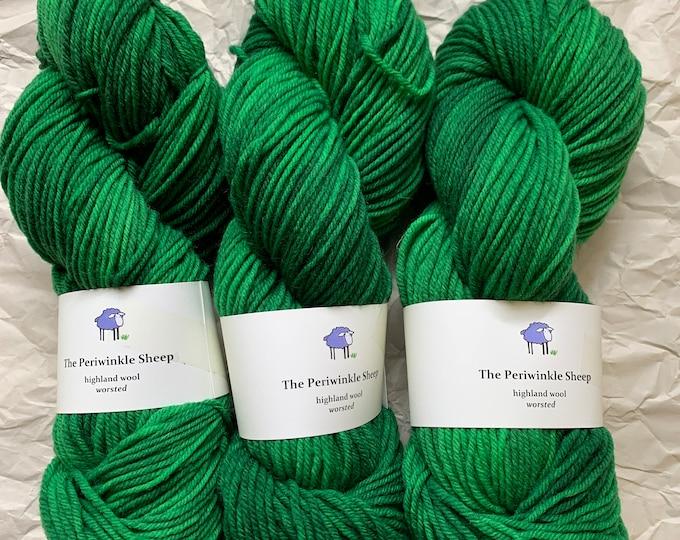 SALE merino worsted - green dragon