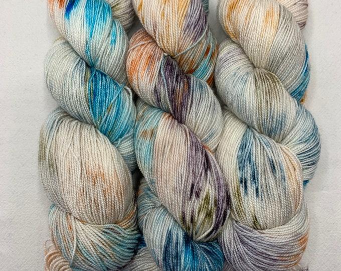 "sock & shawl - OOAK ""Hudson valley"" experiment/lightest"