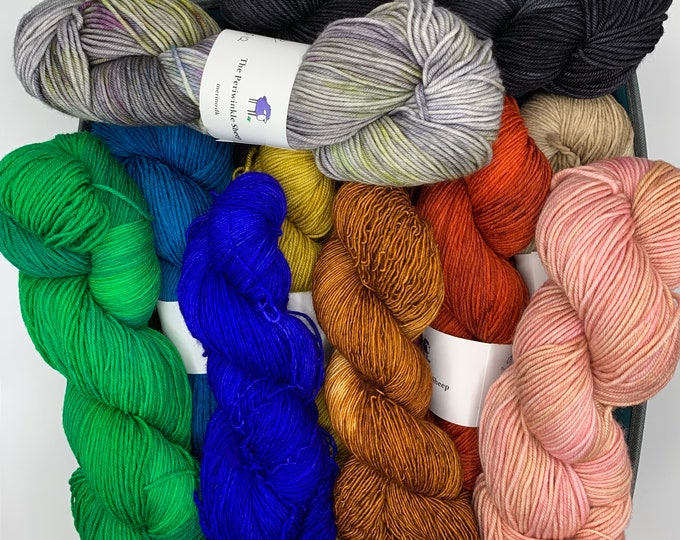 SALE grab bag - 10 skein mix of all weights