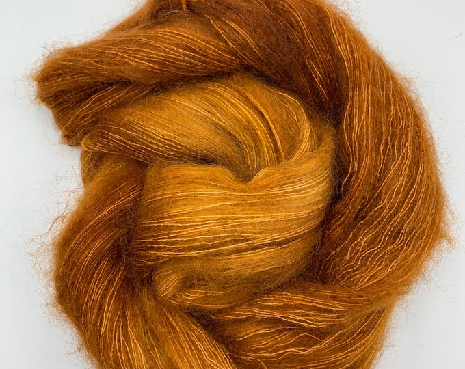 WOLKE mohair/silk laceweight - copper pipe