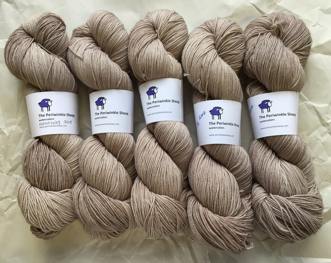 watercolors sock yarn - mourning dove