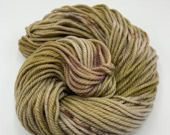 merino chunky - OOAK beige with grey, brown speckles
