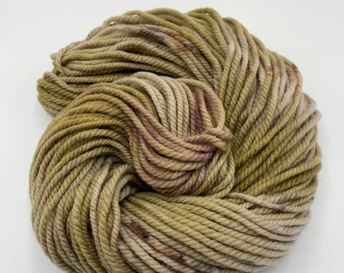 merino chunky - OOAK beige with grey, brown speckles