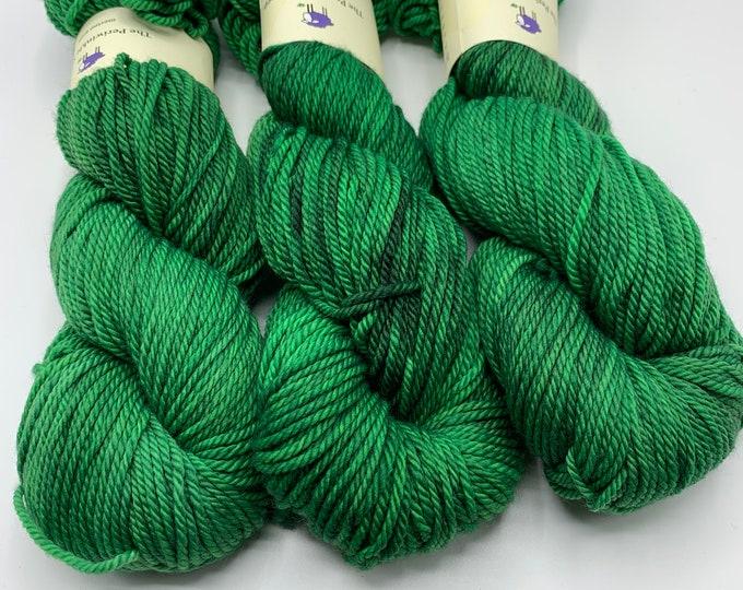 SALE merino aran - green dragon