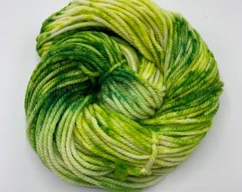 merino chunky - OOAK green speckles