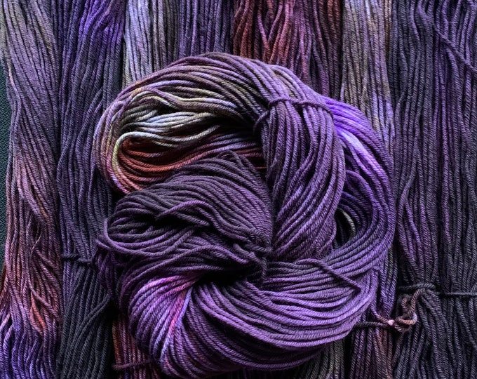 merino worsted - after party /purple