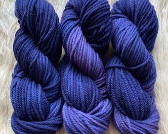 SALE - merino chunky - OOAK blue