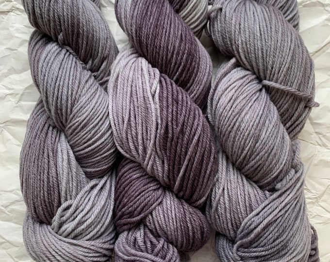 SALE merino worsted - silver lining - seconds