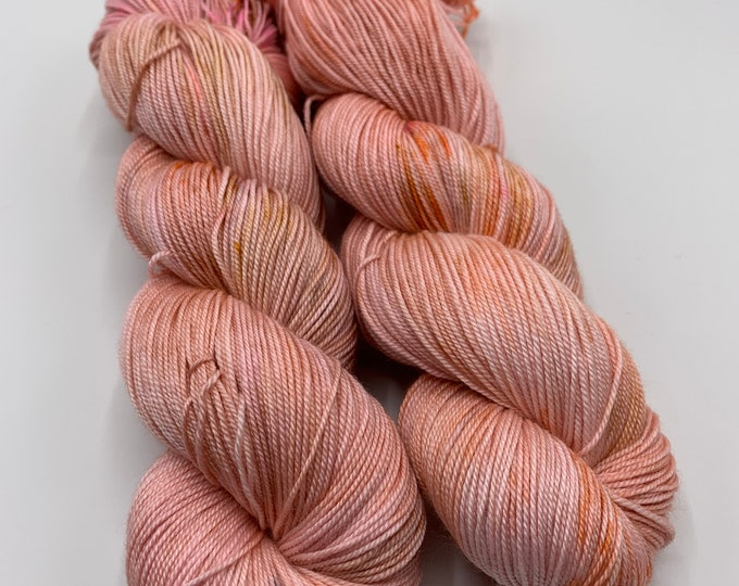 silky sock - special edition yarn - apricot speckles