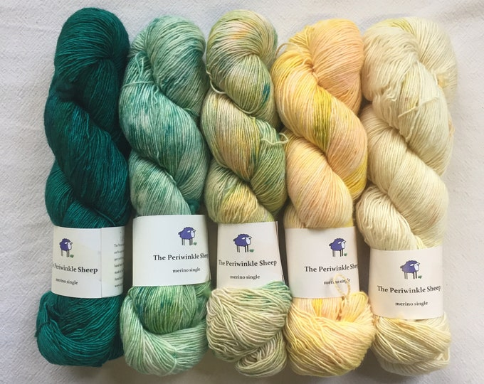 merino single - gradient kit - ivy, speckles no. 41, 40, 39, 38
