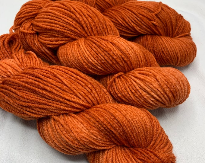 merino worsted - tiger lily