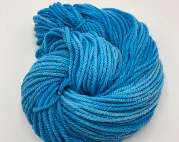 merino chunky - OOAK medium blue